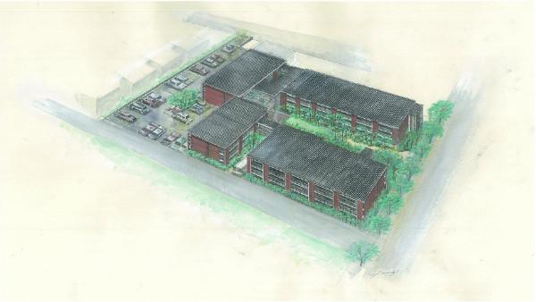 完成予定建物鳥瞰図
